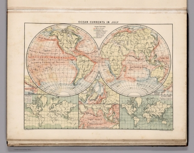 Browse all atlas map and world atlas and climate david rumsey ocean currents in july gumiabroncs Choice Image