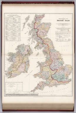 Hydrographical map, British Isles.