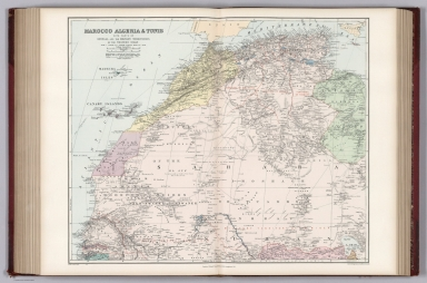 Morocco, Algeria & Tunis with Parts of Senegal and the Western Sudan.