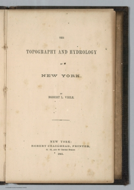 Title: The Topography and Hydrology of New York.