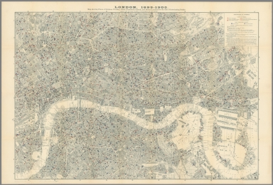 London, 1899-1900. Map showing Places of Religious Worship, Public Elementary Schools, and Houses Licensed for the Sale of Intoxicating Drinks.