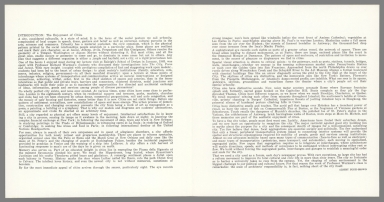 Text: Introduction, The City, Form and Intent.
