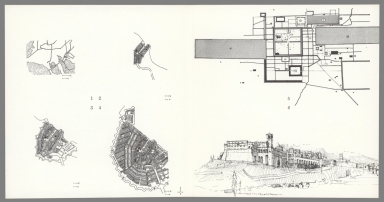 Drawings: 1, Aigues-Mortes; 2-4, Amsterdam; 5, Angkor; 6, Assisi.