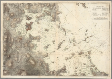 (Chart of Boston Harbor and the surrounding area)