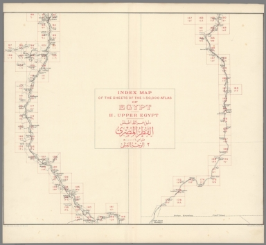 Index Map: Index Map of the Sheets. II Upper Egypt Atlas of Egypt