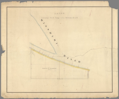 1. A. & N. R.R. (Plans for route of Atchison and Nebraska Railroad)