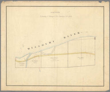 3. A. & N. R.R. (Plans for route of Atchison and Nebraska Railroad)