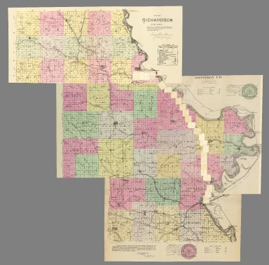 Composite: 24 sheets. A. & N. R.R. (Plans for route of Atchison and Nebraska Railroad)