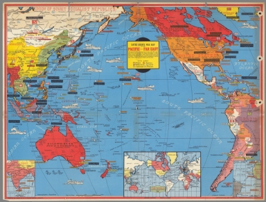 Dated events war map of the Pacific and Far East