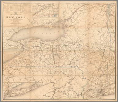 Composite Map: Post Route Map of the State of New York.