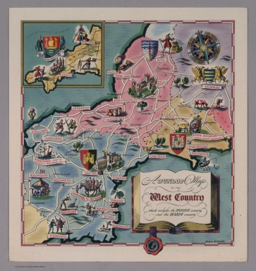 A Dunlop map of the West Country LE 50/32