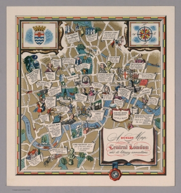 A Dunlop map of Central London and its literary associations, LE 50/34