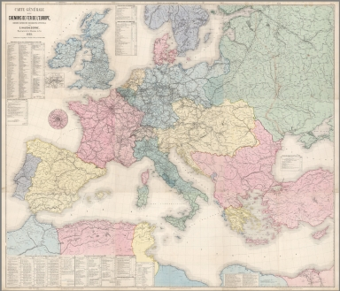 Composite map: Feuille 1-9. Carte generale des chemins de fer de l' Europe