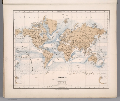 Erdkarte in Mercator's Projection