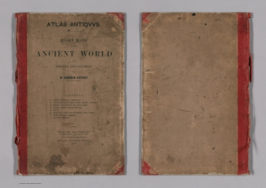 Covers: Atlas Antiquus. Eight maps of the ancient world for schools and colleges