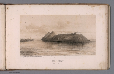 View: Fort Olympo. (Fleuve Paraguay).