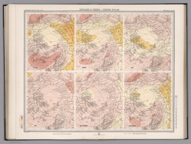 Plate 13. Isobars & Winds - North Polar.