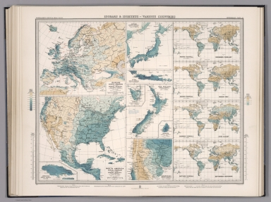 Plate 21. Isobars & Isohyets - Various Countries.