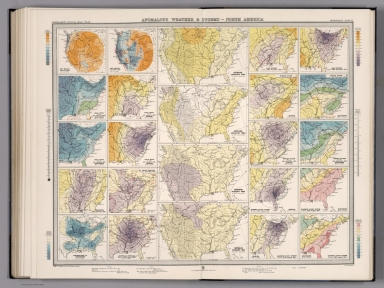 Plate 33. Anomylous Weather & Storms - North American.