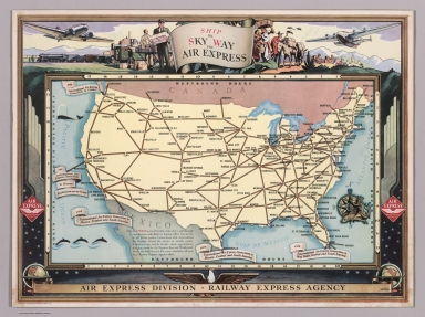 Browse All : Airlines - David Rumsey Historical Map Collection