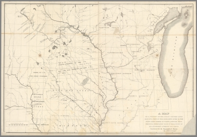 A map of a portion of the Indian country lying east and west of the Mississippi River