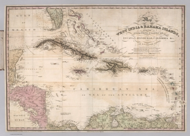 Map of the West India & Bahama Islands