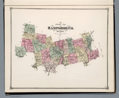 Plan of Hampshire Co. Mass