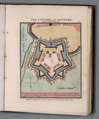 Plate 81 from Vol. 1: The citadel of Antwerp