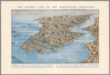 """""""The Graphic"""" map of the Dardanelles operations"""