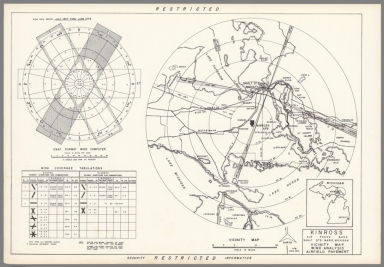 Kinross Air Force Base : Sault Ste. Marie Michigan : Vicinity map