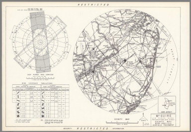 Mc Guire Air Force Base : Wrightstown New Jersey : Vicinity map