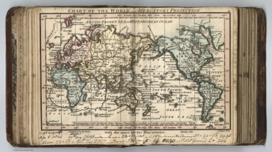 Chart of the World on Mercator's Projection with the most recent Discoveries.