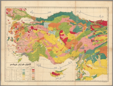 Geological map of Anatolia