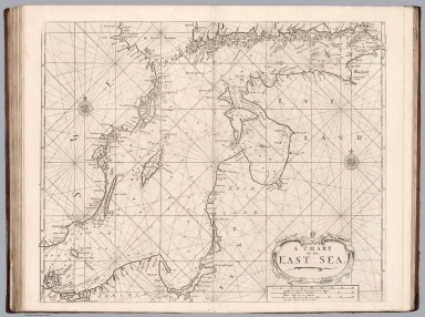 A chart of the East Sea