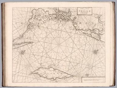 A chart of ye coast of Sweden from Oeland to Stockholm.