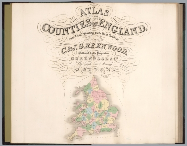 Title Page: Atlas of the Counties of England