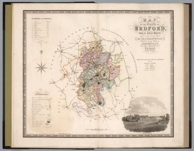 Map of the county of Bedford