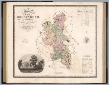 Map of the county of Buckingham