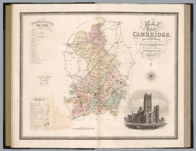 Map of the county of Cambridge
