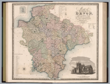 Map of the county of Devon