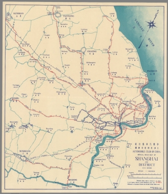 Official road map of Shanghai and district