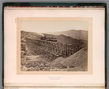 XXVIII. Trestle work : Promontory Point, Salt Lake Valley