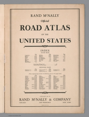 Title Page: Rand McNally Official Road Atlas of the United States