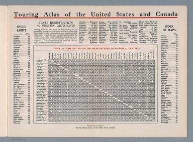 (Text Page: Touring Atlas of the United States and Canada