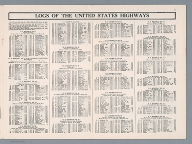 Text Page: Logs of the United States Highways