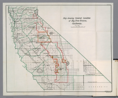 Map showing general location of Big Tree Groves, California