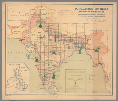 Population of India Shown by Rectangles.