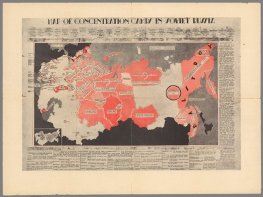 Map of Concentration Camps in Soviet Russia