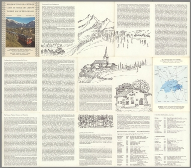 Text: Reisekarte Von Graubunden. Carte De Voyage Des Grisons. Tourist Map of the Grisons.