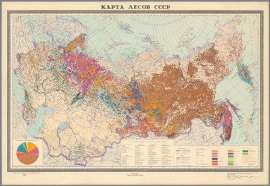Karta Lesov SSSR. (Map of the Forests of the U.S.S.R.)